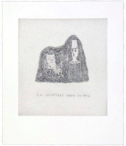 Гравюра Kaga - The darkness covers his work