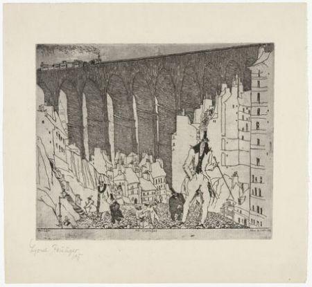 Гравюра Feininger - The Disparagers