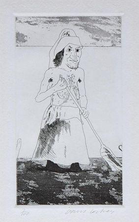Гравюра Hockney - The Enchantress in Her Garden