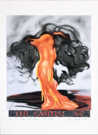 Литография Rosenquist - The Flame Still Dances on Leo's Book (not in Glenn) from the portfolio of Leo Castelli's 90th Birthday