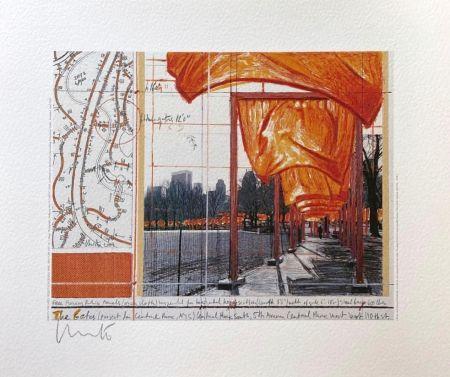 Литография Christo - The Gates (I)