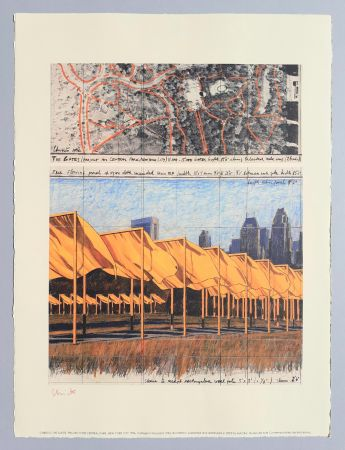 Литография Christo - 'The Gates, project for Central Park New York City