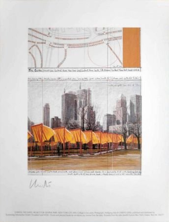 Гашение Christo -  The Gates, Project for Central Park, New York, XIV