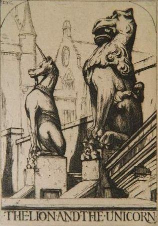 Гравюра Cameron - The Lion and the Unicorn