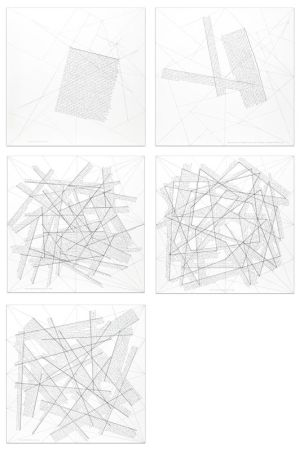 Гравюра Lewitt - The location of lines (portfolio of 5)