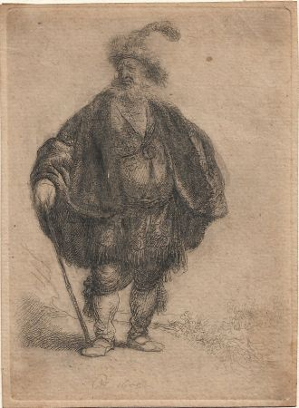 Гравюра Rembrandt - The Persian