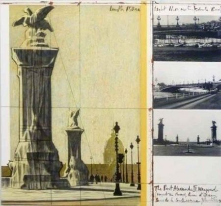 Литография Christo - The Port Alexandre Iii