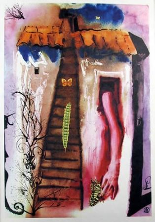 Литография Dali - The Rabbit Sends in a little bill