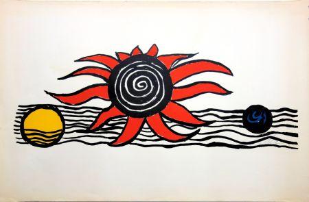 Литография Calder - The red sun