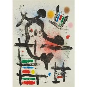 Литография Miró - The Slingshot Bird
