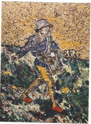 Гашение Muniz - The Sower, after Van Gogh