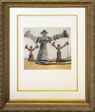 Гравюра Dali - THE SPINNING MAN