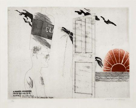 Офорт И Аквитанта Hockney - The Start of the Spending Spree