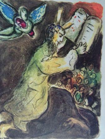 Литография Chagall - The Story of the Exodus, plate number 20:Voici les Paroles du Seigneur..