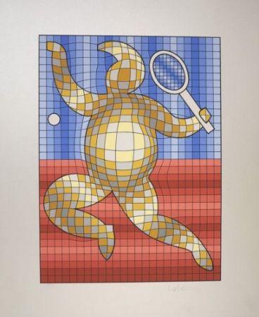 Многоэкземплярное Произведение Vasarely - The Tennis Player