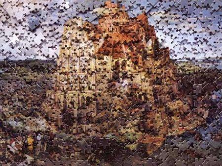 Многоэкземплярное Произведение Muniz - The Tower of Babel, after Pieter Breugal