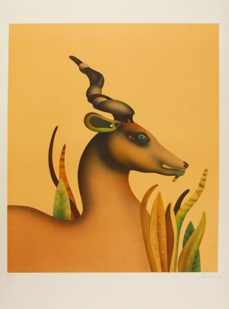 Литография Donadini - The Unicorn / La licorne