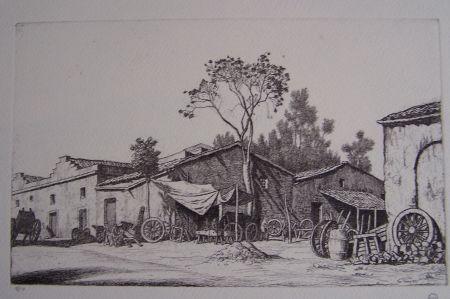 Гравюра Strang - The Wheelwright's Shop
