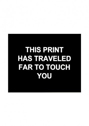 Гравюра Prouvost  - This print has traveled far to touch you