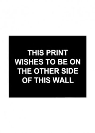 Гравюра Prouvost  - This print wished to be on the other side of this wall