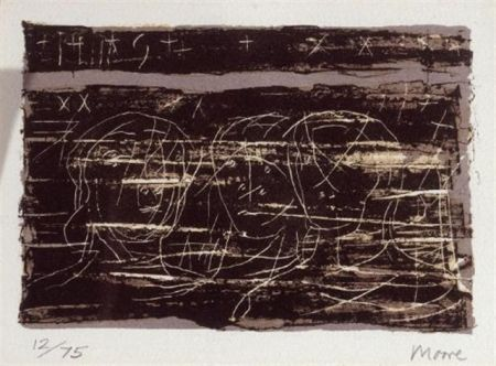 Литография Moore - Three heads