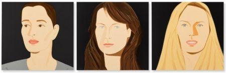 Литография Katz - Three Portraits (Sarah, Vivien, Sophia)