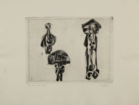 Гравюра Hadzi - Three Sculpture Studies