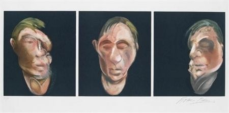 Литография Bacon - Three Studies for a Self Portrait