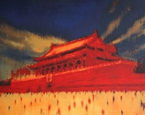 Литография Yang - Tian An Men