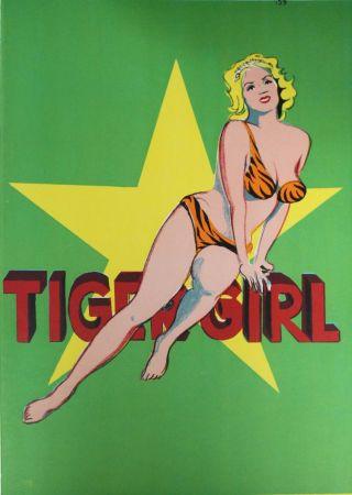 Литография Ramos - Tiger Girl