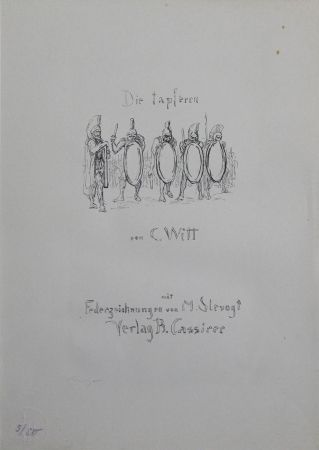 Литография Slevogt - Titel