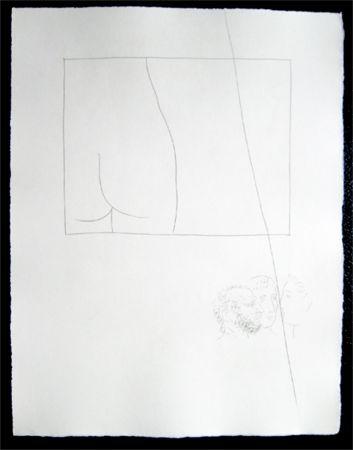 Гравюра Picasso - Title:Fragment de corps de femme  Fragment of a woman's body