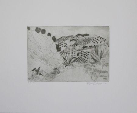 Гравюра Breiter - Toskanische Landschaft / Tuscan Landscape