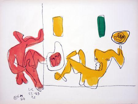 Литография Le Corbusier - Touching Their Feet