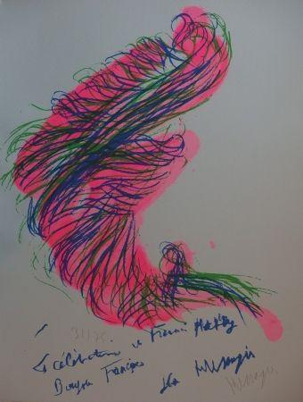 Литография Messagier - Tourbillon rose
