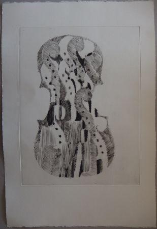 Гравюра Сухой Иглой Arman - Traité du Violon - 10 gravures