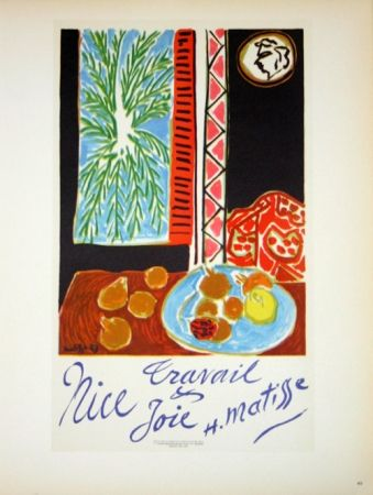 Литография Matisse - Travail et Joie  Nice 1948