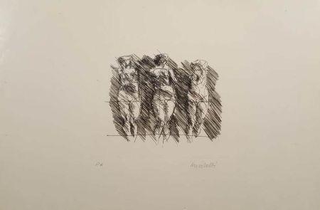 Литография Morlotti - Tre dame