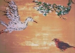 Литография Tian-Tian - Treasure birds 1