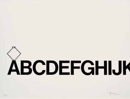 Литография Brossa - Tren de lletres