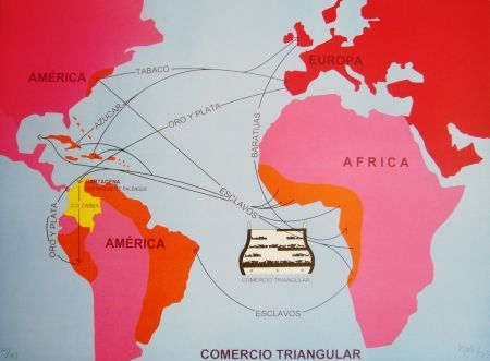 Литография Hoyos -  Triangulo Comercial