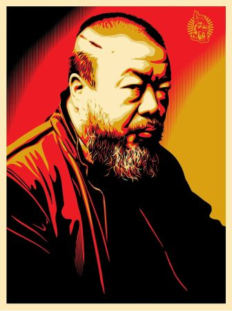 Сериграфия Fairey - Tribute to Ai Weiwei