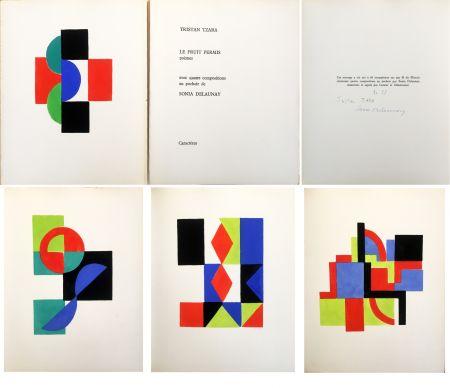 Иллюстрированная Книга Delaunay - Tristan Tzara. LE FRUIT PERMIS. 4 pochoirs (1956)