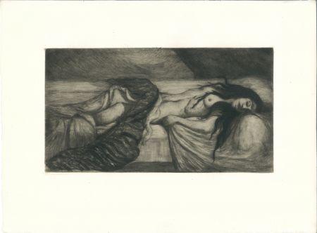Гравюра Cottet - Tristesse