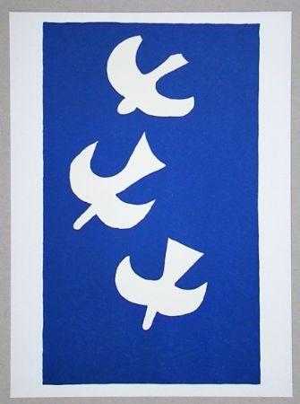 Литография Braque (After) - Troi oiseaux