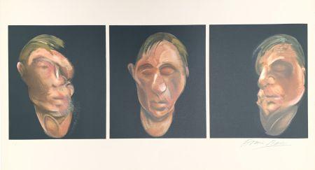 Литография Bacon - Trois études pour un autoportrait