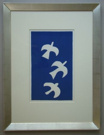 Литография Braque - Trois Oiseaux