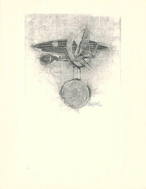 Офорт И Аквитанта Friedlaender - Trois oiseaux I