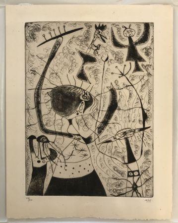 Гравюра Сухой Иглой Miró - Trois Sœurs