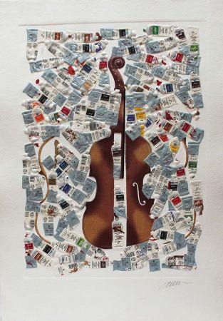 Гравюра Arman - Tubes et violin